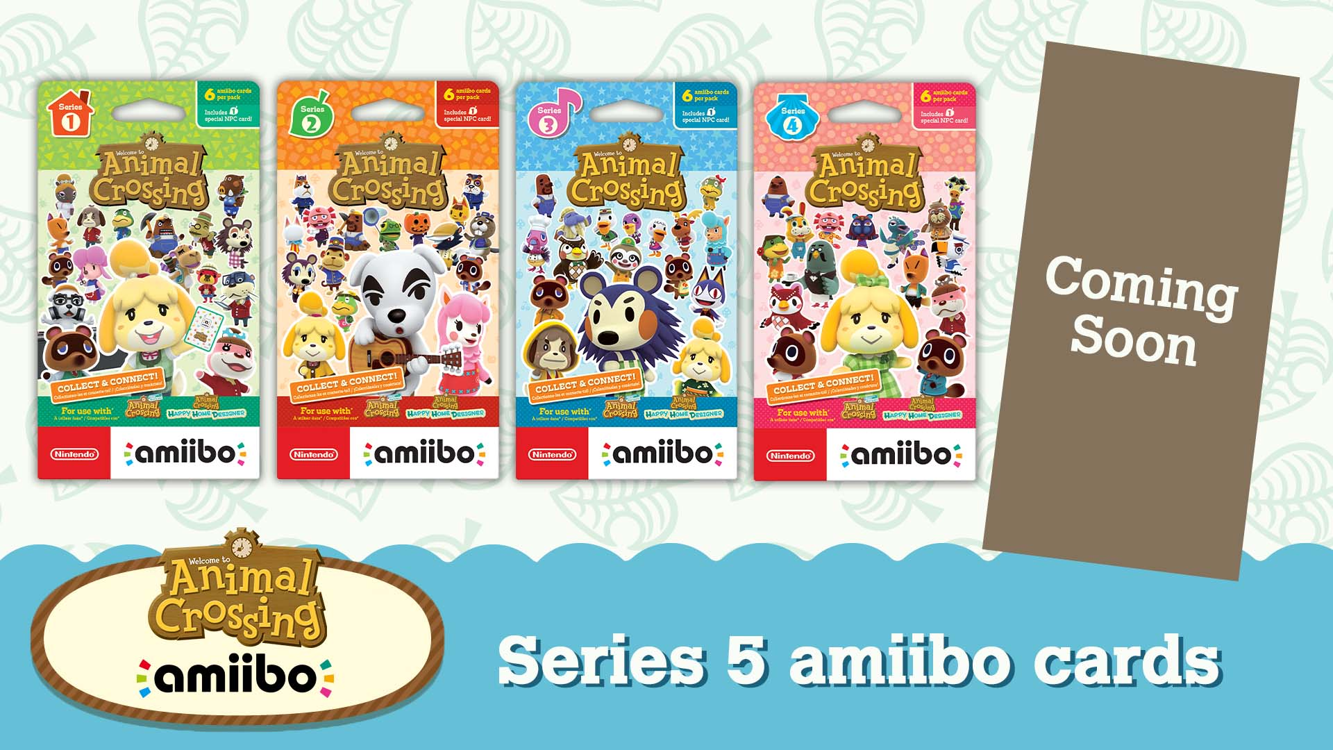 For 2021, new Animal Crossing Amiibo Card